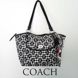 Coach Black & White Chelsea Leah Bag